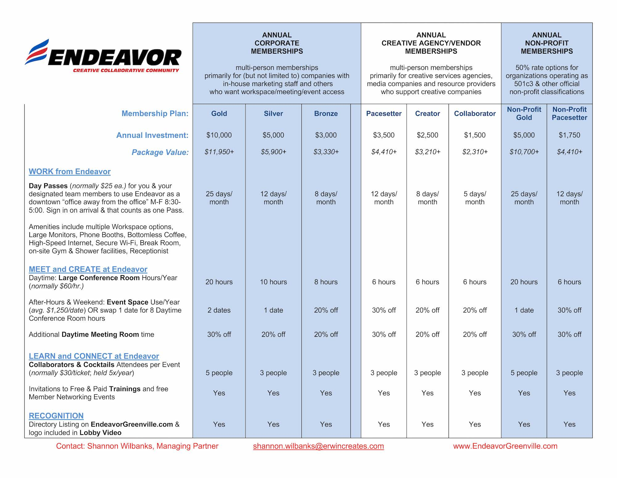 2020 Endeavor Corporate Mships (1)- Image