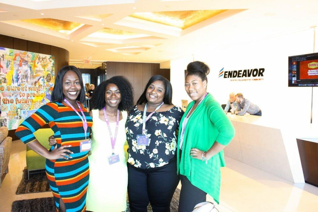 Summer Scholars in lobby of Endeavor