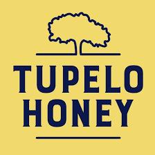 Tupelo Honey Logo, Blue and Yellow